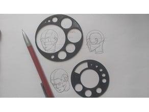templates circles, draw