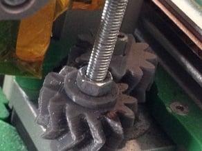 Amsterdamman's Stabilized Z axis Herringbone Gear for Reprap Ormerod