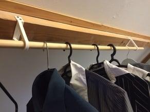 clothes hanger connection to girder