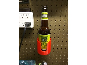 Pegboard mounted beer holder