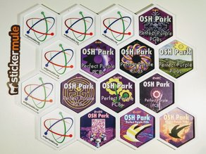 Hexagonal Frame for OSH Park & hexbin Stickers
