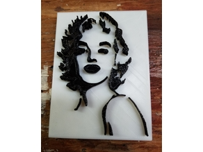 Marilyn Monroe Silhouette Art (2 Color)