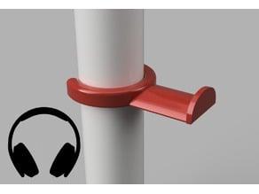 HeadPhone stand for table leg (4cm diameter)