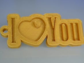 Special Valentine's Day I_Love_You Keychain Hanger