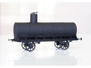 """Russian """"normalized"""" tank car 1:87 (H0)"""