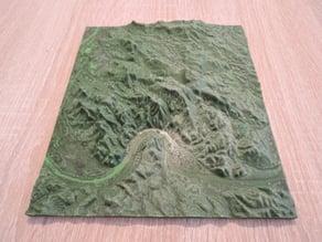 Topographic 3D Map - Danube Bend (Dunakanyar)