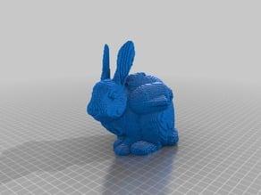 8-bit pixel | pixelized JetPack Bunny with Dissolvable material