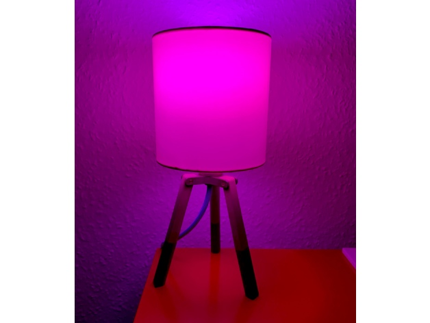 Hue Lampen E14 : Tripod lamp bedside lamp e hue by as schl thingiverse