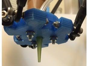Paste extruder tip mount for Kossel Mini