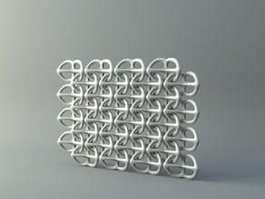 Net from pretzel-like parts