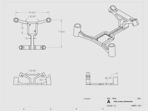 V-tail Frame for the Hubsan X4 Quadcopter