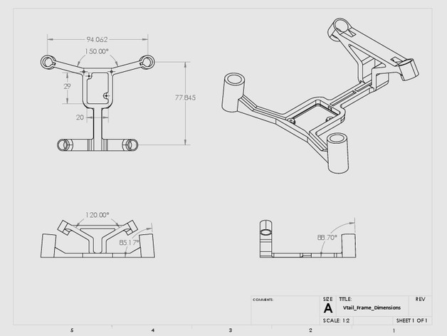 V-tail Frame for the Hubsan X4 Quadcopter by gyronictonic - Thingiverse