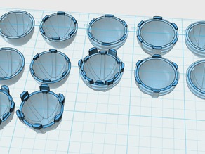 Round Main Thruster Cones x 18 styles for 1/60 scale robot models