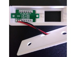 """Housing for two LED voltmeters with 3 or 2 wires 0.36 """""""