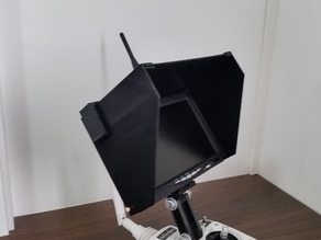 Customizable Sun Shield for FPV LCD Monitor