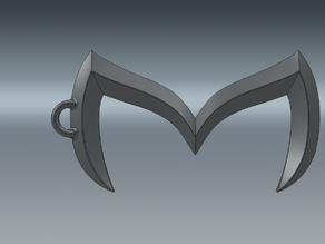 Mazda Batman Emblem Key Chain