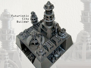 Futuristic city builder generator