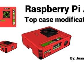 Raspberry Pi A+ top case modification