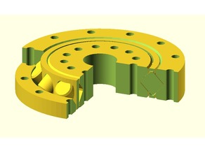 Slew bearing with crossed cylinder rollers and flexible parameters.