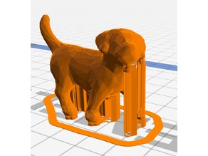 3D Low-Poly Puppy with Supports, g3drem