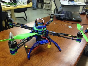 3D Printed & Carbon Fiber QuadCopter