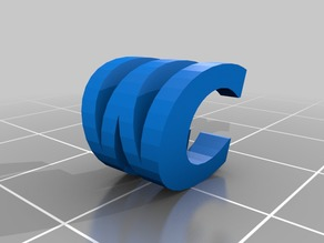 CW Two Letter Sculpture