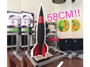 4 part Classic Rocket for 20x20 Printers VASE MODE