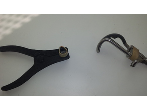 Tool to put elastics to hook