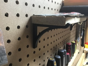 Pegboard small shelf bracket