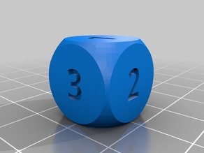 Dice with numbers