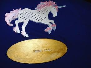 Unicorn earring holder