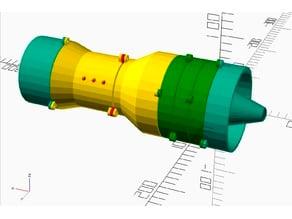 Rotating Turbojet Model