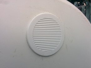 Small ventilation grille with filter