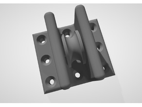 Single Pulley Wall Mount