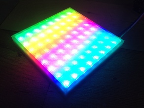 NeoPixel 8x8 Digital RGB LED Matrix cover with bottom case