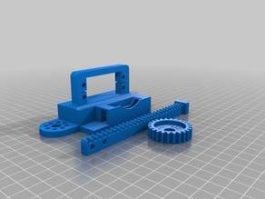 Modified servo linear actuator