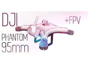 DJI PHANTOM 95mm FPV Frame - 1103 Motors