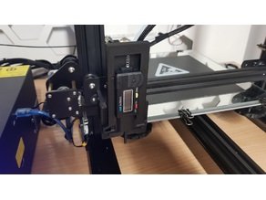 CR-10S LCD Tire Gauge Mount For Bed Leveling