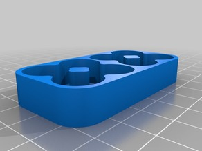 Rounded 8 AA battery holder