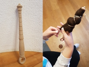 Ring (finger) distaff / Spinnrocken oder Fingerkunkel