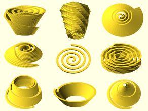 Archimedean spiral generator
