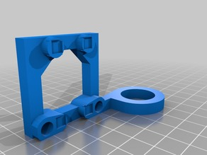 Magnetic fan holder for extruder fan 40mm anet A8