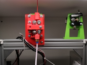 B2D extruder mount for 2020 extrusions