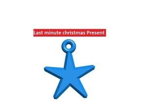 Customizable christmas star