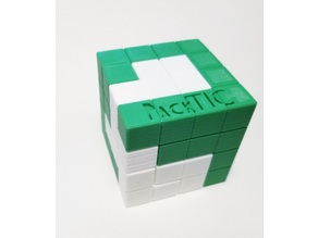 PackTIC Puzzle - Designed by Andrew Crowell - Turning Interlocking Cube Puzzle
