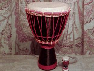 Miniature African Djembe Drum