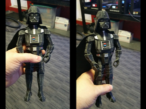 REMIX Low POLY Darth Vader Posable Figure!