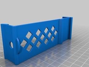 Din rail mount for 18650 battery holder