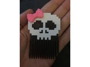 8 Bit Skull Hair Comb