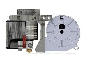 """Diema Kossel """"E3D V6"""" Effector (40mm/5015 fan duct, BLTouch, ONZProbe)"""